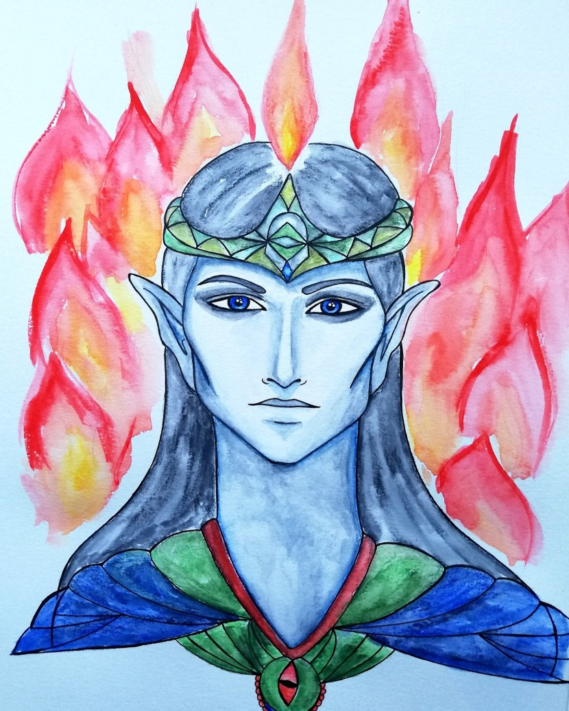 Dark elf: soul aspect drawing